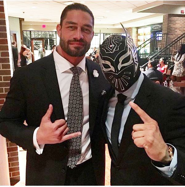 Roman Reigns with Sin Cara