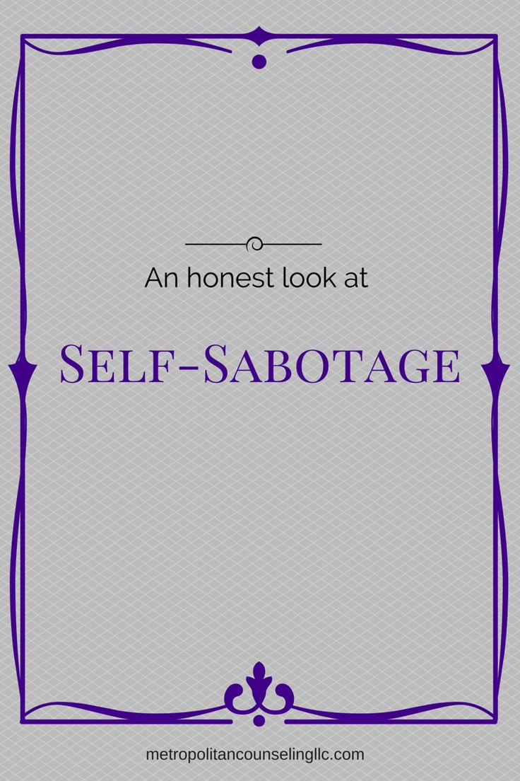 Let's get real about self-sabotage. What are we really doing when we…
