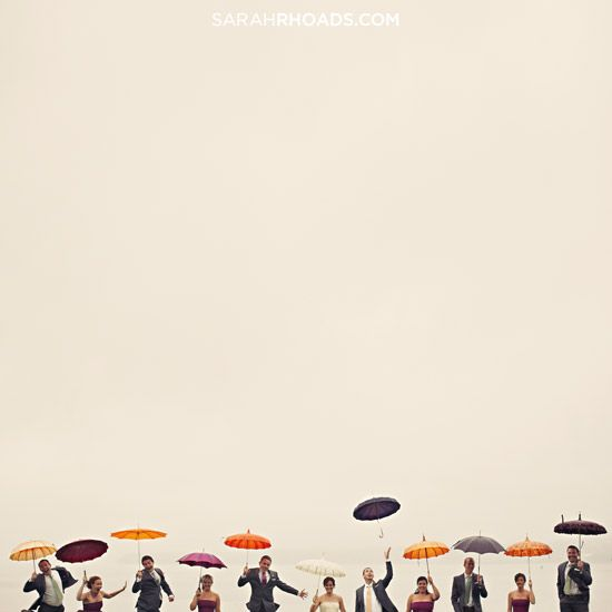 Sarah Rhoads Photographers.  very cool photo. might have to invest in a stash of cheap colourful brollies...