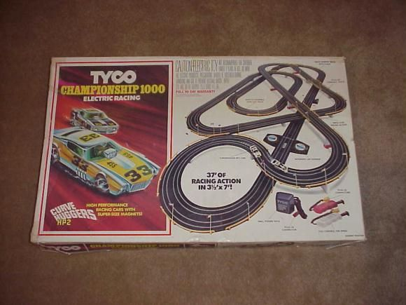 Tyco Electric Race Car Set. I used to play something like this with my brother.