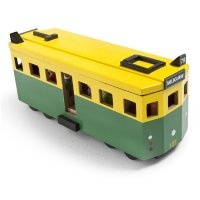 Make Me Iconic Wooden Melbourne Tram  From Monkey Caboose