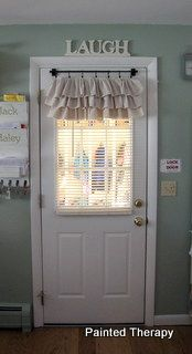 DIY ruffled curtains from painter's drop cloths.