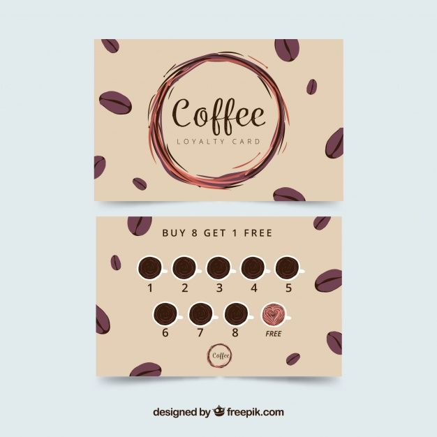 Download Coffee Shop Loyalty Card Template With Elegant Stye For Free Loyalty Card Template Coffee Gifts Card Coffee Shop Business Card