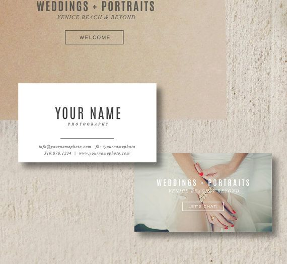 Vintage Business Card Design for Photographers - INSTANT DOWNLOAD - c0118 Wedding photography business card. Photography templates for photographers.