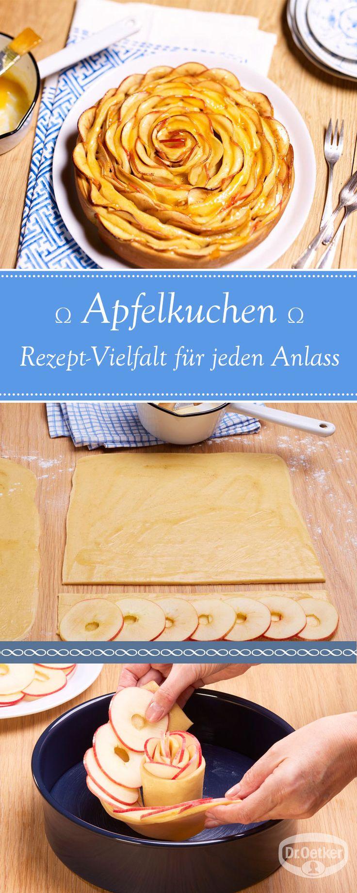 Lassen Sie sich von der großen Auswahl an Apfelkuchen-Rezepten, die von der Dr. Oetker Versuchsküche entwickelt wurden, inspirieren.