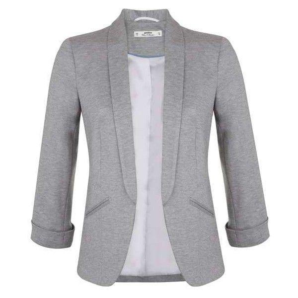 Petites Grey Ponte Blazer - Petite Coats & Jackets - Petite - Miss... ($80) ❤ liked on Polyvore featuring outerwear, jackets, blazers, ponte knit blazer, grey blazer, petite blazer, miss selfridge and petite jackets
