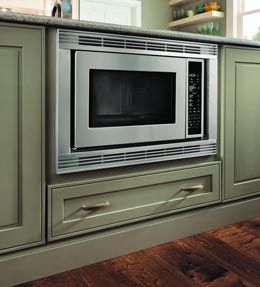 Ovens the o 39 jays and the wall on pinterest for Kraftmaid microwave shelf