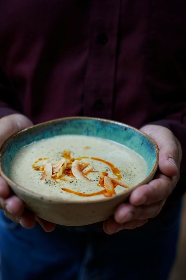 Roasted Cauliflower and Coconut Soup   DonalSkehan.com, Delicious simplicity…