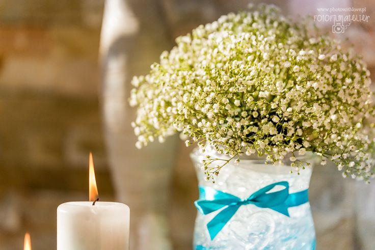 baby's breath flowers tiffany blue wedding details