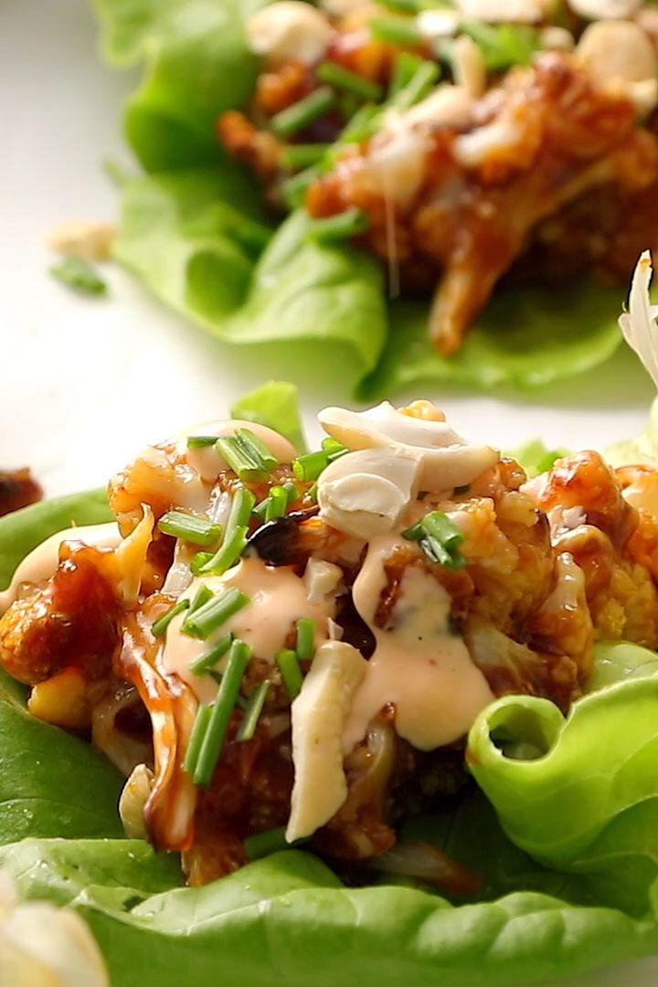 Involucri coreani della lattuga del cavolfiore di stile barbecue coreano