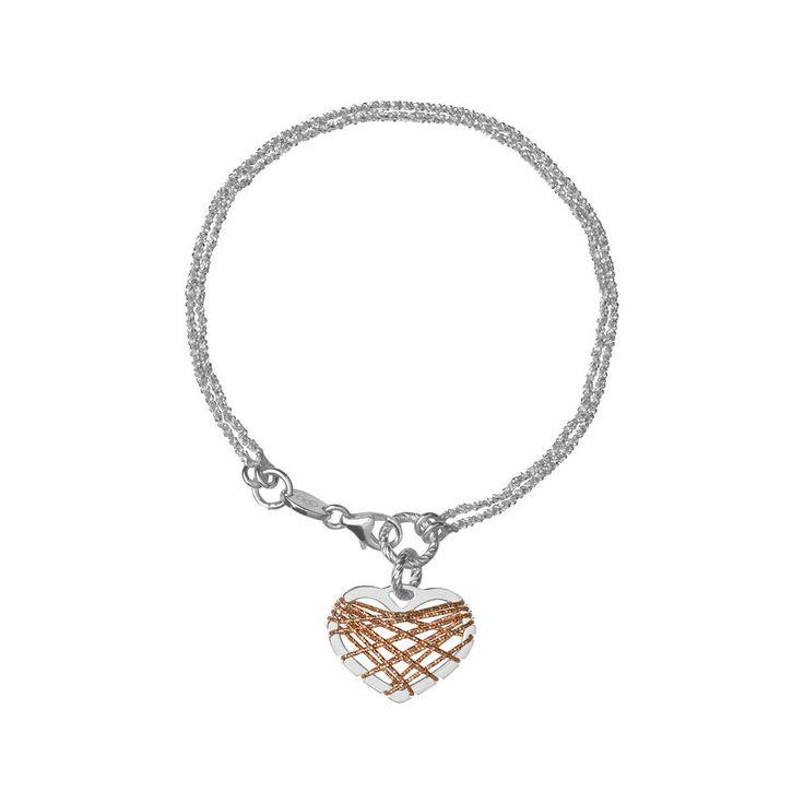 Dream Catcher Heart Rose Gold Bracelet, Links of London Jewellery