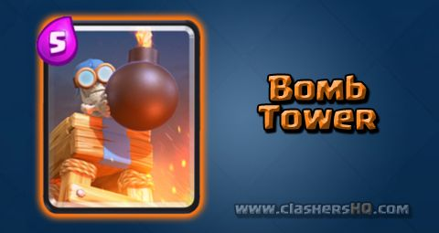 Find all about the Clash Royale Bomb Tower Card. How to get Bomb Tower & attack/counter Bomb Tower effectively.