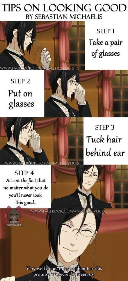 Black butler – how to look as good as Sebastian