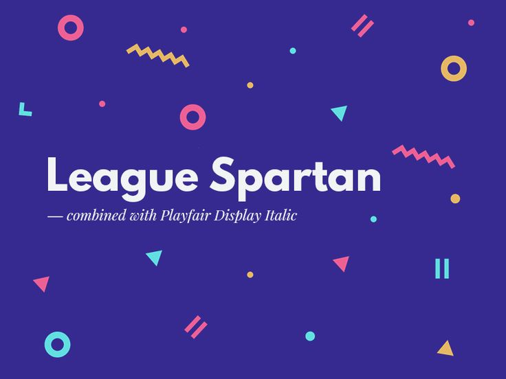 Recently I have discovered a beautiful sans-serif font named League Spartan. Tried it combining with serif font which is trending now - Playfair Display. Looks great, will use them both as quickly ...