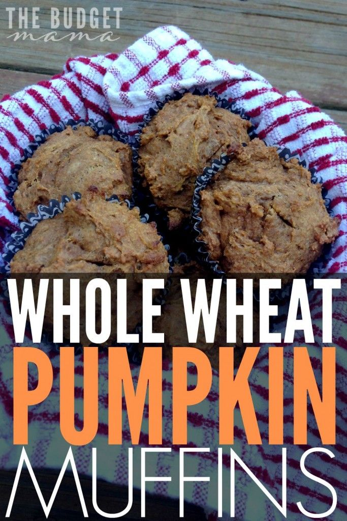 favorite quick and easy muffin recipes - whole wheat pumpkin muffins ...