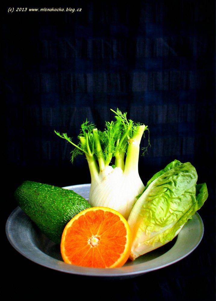 Zimní salát z fenyklu, avokáda a pomeranče | Blog Mlsné Kočky