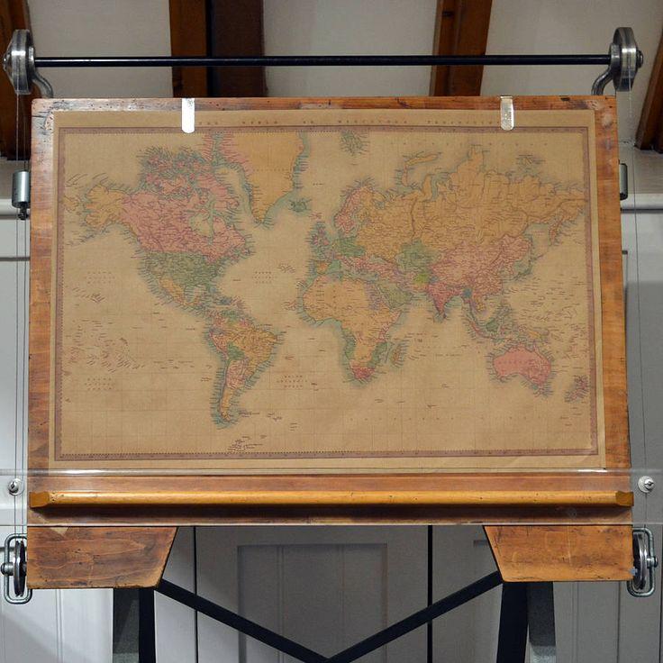 Best Travel Inspired Wedding Images On Pinterest World Maps - World map poster vintage style