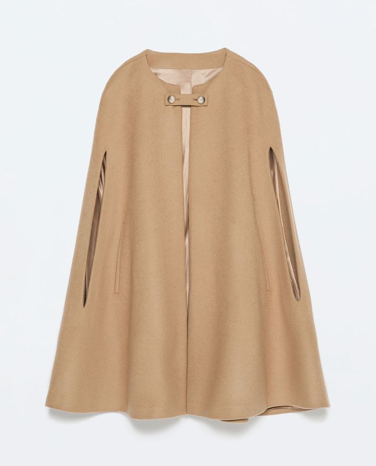 BUTTONED CAPE COAT-Outerwear-Woman-COLLECTION SS15 | ZARA United States