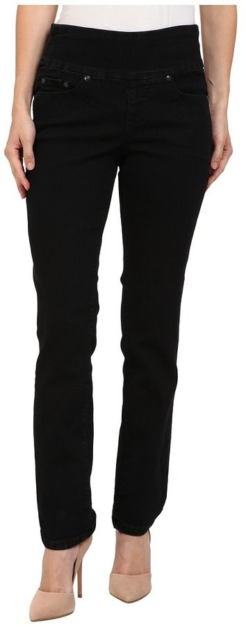 Jag Jeans Petite - Petite Peri Pull-On Straight in Black Void Women's Jeans