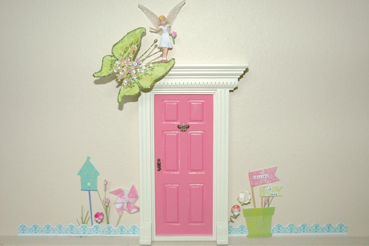 I just love these little fairy doors...so great for a child's imagination! My favorite is if you have a loved one deployed...the fairies can leave little notes and things from Daddy or Mommy etc...they come in different colors or you can design your own. www.littlefairydoor.com or lil fairy door on FB of course Boo Boo's will definitely be a different color!