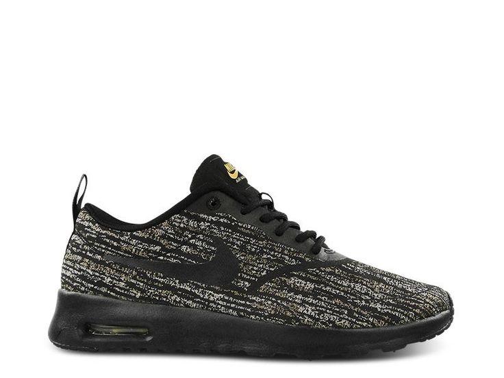 Nike W Air Max Thea Ukltra JCRD PRM, Chaussures de Sport Femme, Noir (Black/Black/Gum Yellow/White), 40 EU