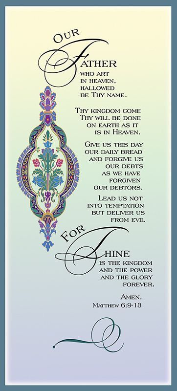 116 Best The Lords Prayer Images On Pinterest Prayer Prayers And