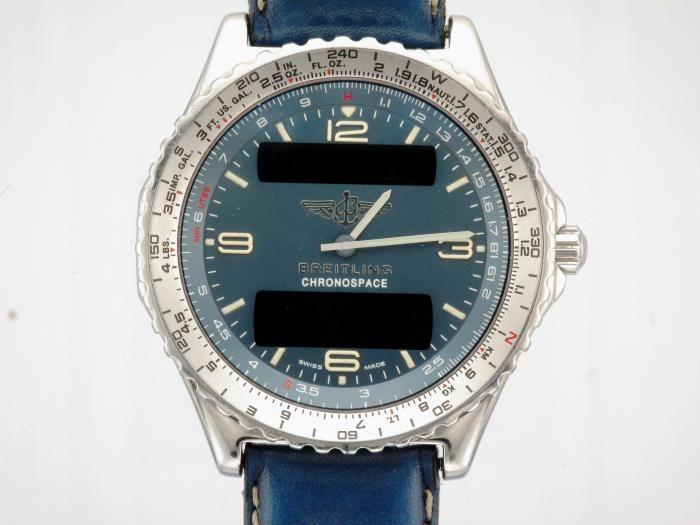 STEEL BREITLING CHRONOSPACE A56012.1 WATCH ON STRAP - Attenborough Pawnbrokers & Jewellers #attenborough #jewellers #london #pawnbroker #unredeemed #breitling #chronospace #prestige #watch
