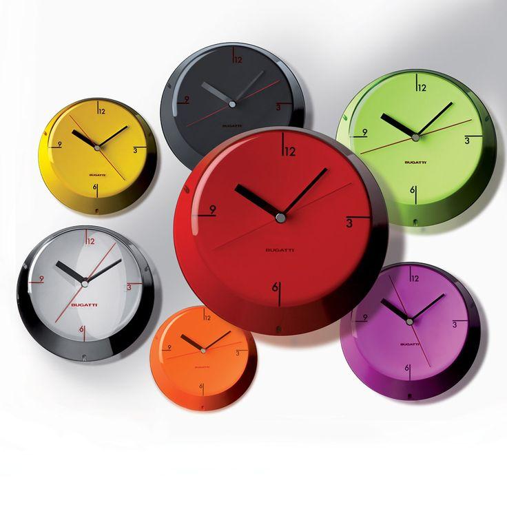Glamour chrome wall clock - Bugatti - Bugatti - RoyalDesign.com