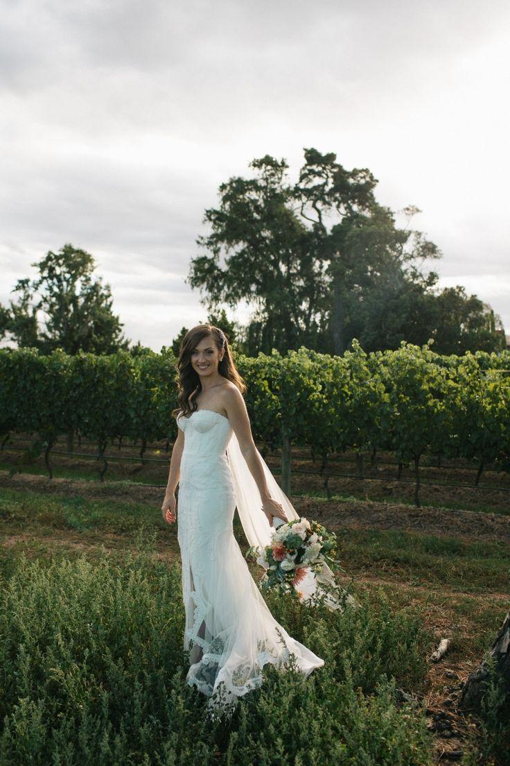 Modern Vineyard Wedding With Peach Details - Polka Dot Bride