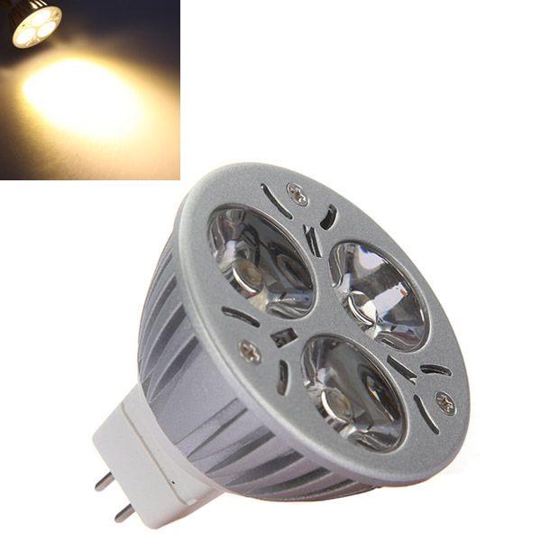 Mr16 3w 3 Led 270 Lumen 3200k Warm White Spot Lightt Bulb Dc 12v Light Bulb Mr16 Led Bulbs Bulb
