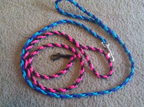 how to make round braid dog leash
