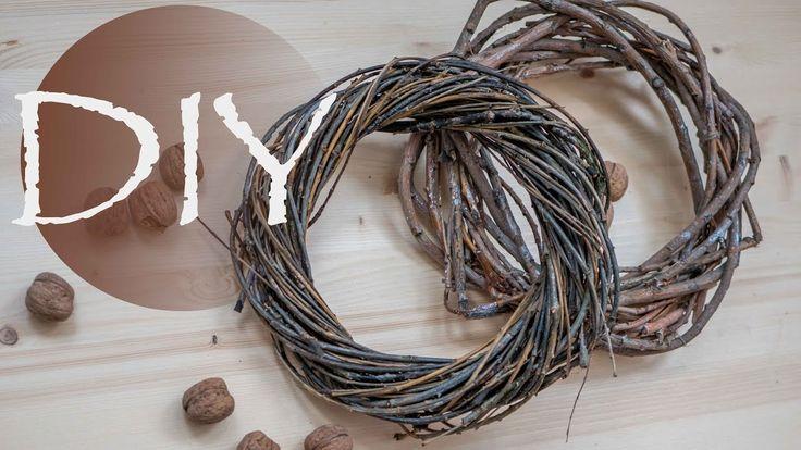 Как сделать  венок из веток ЗИМОЙ  /How to make a wreath of twigs winter