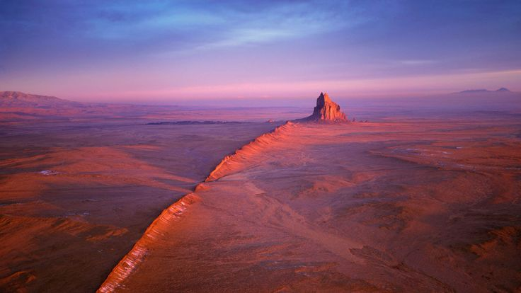 Shiprock in the Navajo Nation of New Mexico (© Wild Horizon/Getty Images) – 2017-03-02 [http://www.bing.com/search?q=shiprock+rock+formation&form=hpcapt&filters=HpDate:%2220170302_0800%22]