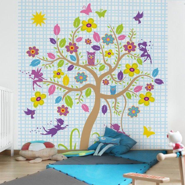 Fabulous Kinderzimmer Fototapete Feen Garten Vliestapete Quadrat