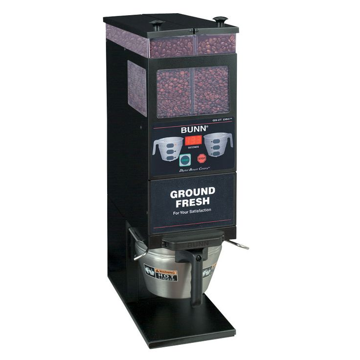 Qualified Bunn Coffee Grinder for Excellent Taste of Coffee : Beautiful Design of Bunn Portion Control Coffee Grinder Double Hopper Black