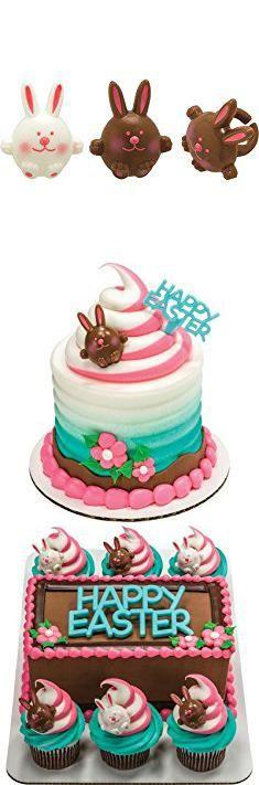 Easter Bunny Cupcakes. Easter Bunny Cupcake Rings - 24 pcs.  #easter #bunny #cupcakes #easterbunny #bunnycupcakes