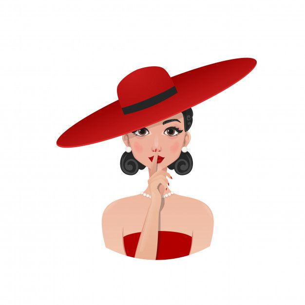 Retro Girl In A Red Hat And Dress Retro Girls Retro Hats Red Hats