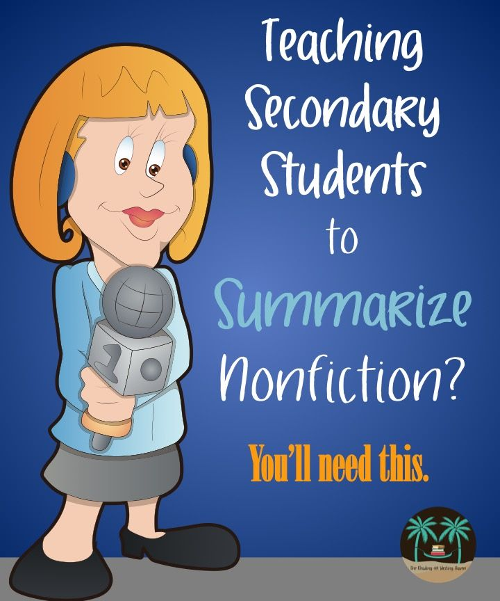Make summarizing nonfiction simple with these quality products where students associate summarizing with being a news reporter.