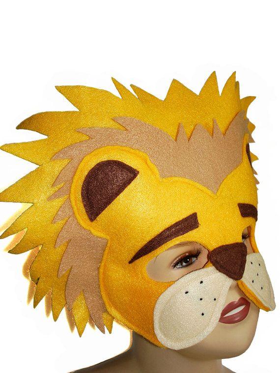 Masque en feutrine animaux Safari pour enfants par MagicalAttic