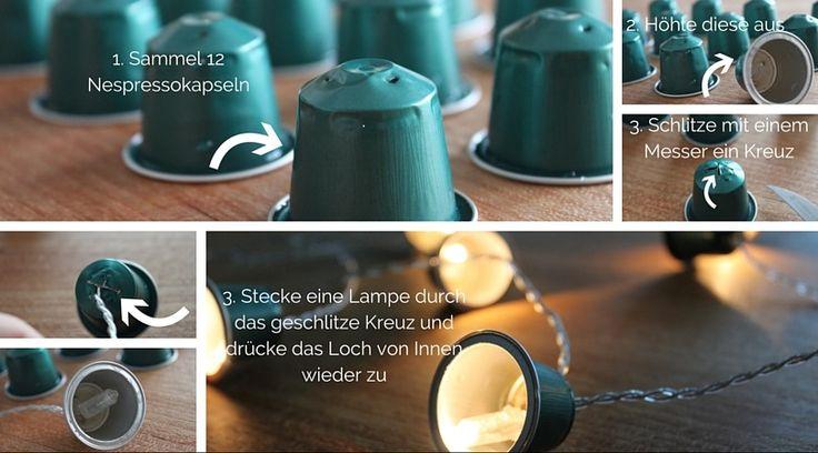 diy lichterkette aus nespressokapseln upcycling ikea hack schnickschnack sonntag produkte. Black Bedroom Furniture Sets. Home Design Ideas