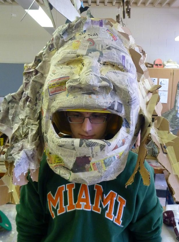 The Big Head Project | Wearable, giant  paper mache sculptures of celebrity heads