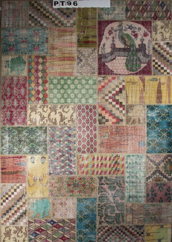 Unique 100 Handmade Art Deco Patchwork Turkish Vintage Rug 2 00 Usd Only 1 Available