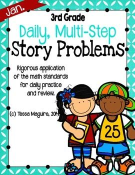 These multi-step story problems really extend students' strategy use and prepare them for difficult state assessments