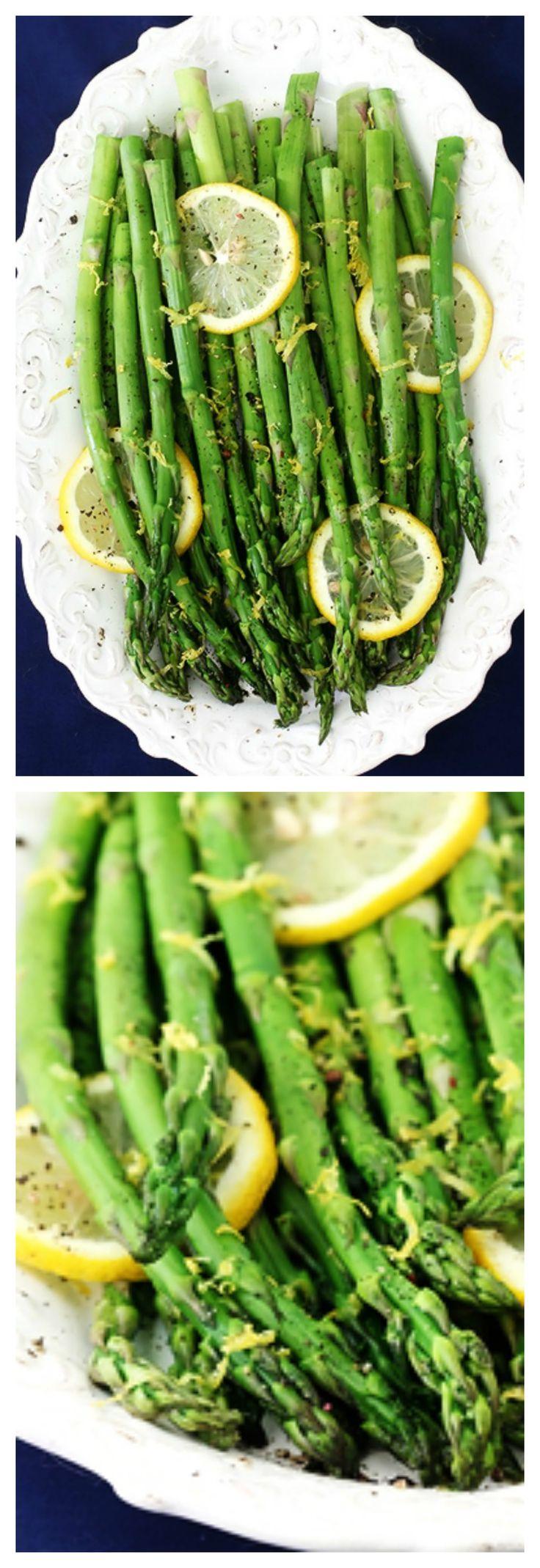 Lemon Pepper Asparagus -- super easy to make, and full of fresh lemon pepper flavor!   gimmesomeoven.com