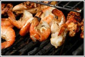Grilled fire shrimp