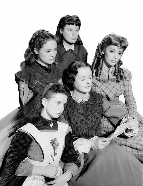 With Margaret O'Brien, Janet Leigh, June Allyson and Elizabeth Taylor in LITTLE WOMEN (1949).