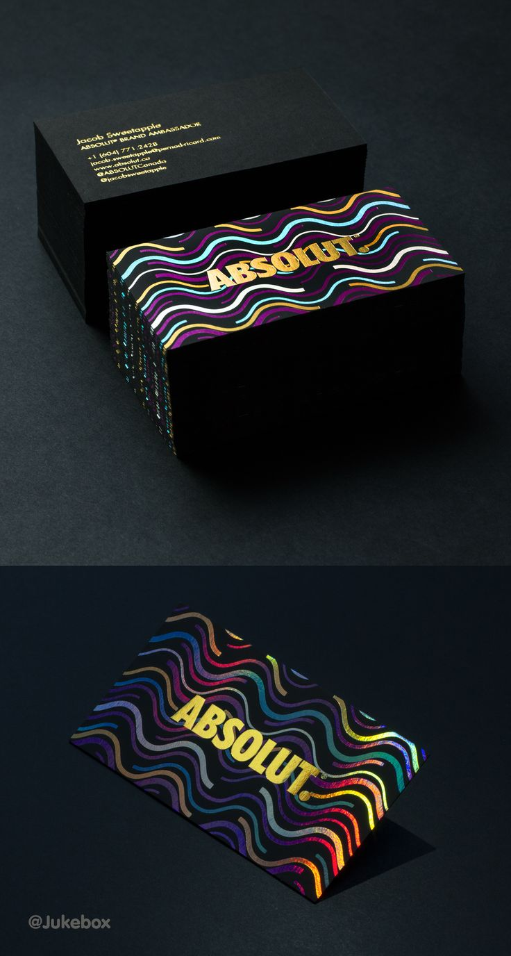 Best 25 holographic foil ideas on pinterest black business card stunning 6 color holographic foil business card produced on 30pt black onyx stock produced for magicingreecefo Image collections