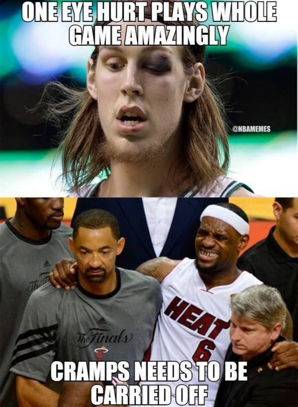 Kelly Olynyk only needs ONE working eye. #Celtics - http://nbafunnymeme.com/nba-memes/kelly-olynyk-only-needs-one-working-eye-celtics