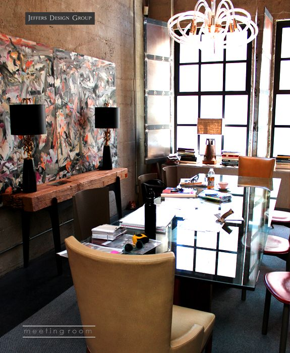 chic office design. jay jeffers design group chic office
