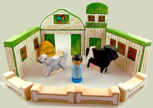 Build-A-Barn™  Barn Toy  Farm Toy  wooden barn  wooden